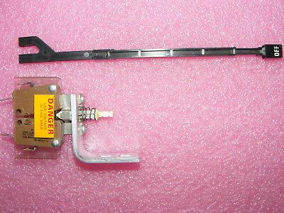Tektronix 7834 Oscilloscope Power Push Switch Extension Shaft Bracket Angle