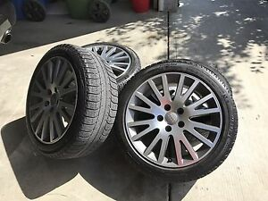"Audi 17"" rims and tires"