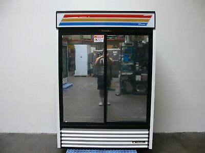 True Gdm-47 Reflective Sliding Glass Door Merchandiser Refrigerator