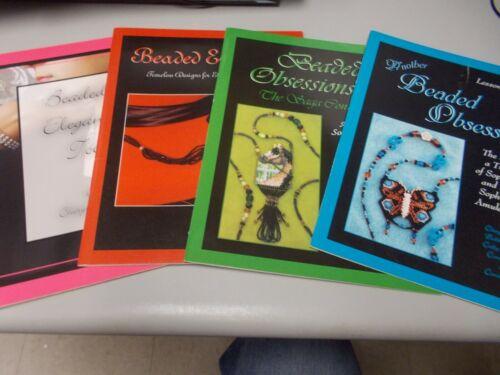 4 Books Beaded Obsessions Elegance  Author Cheryl Assemi