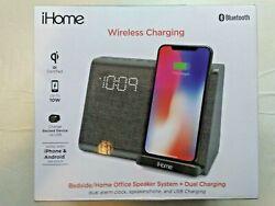 iHome iBTW39v2G Bluetooth Dual Alarm Clock Wireless Speakerphone & USB  Charging