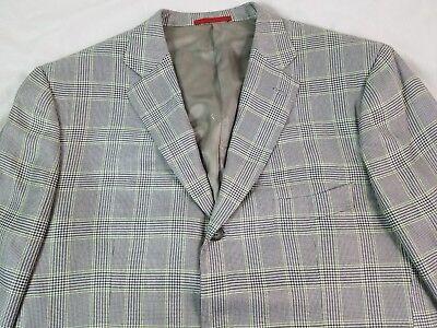 ISAIA NAPOLI Mens Sport Coat Blazer SCIAMERRIA BAMBOO 46R Italy Gray Green Blue