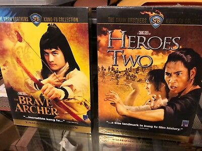 Shaw Brothers Kung-Fu Collection - Heroes Two /  Brave Archer (2-DVD) ENG DUB!