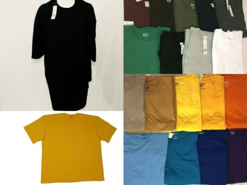 T-Shirts BIG and TALL Plain SOLID Crew Neck Shirts Short Sleeve tees UP TO 10XL