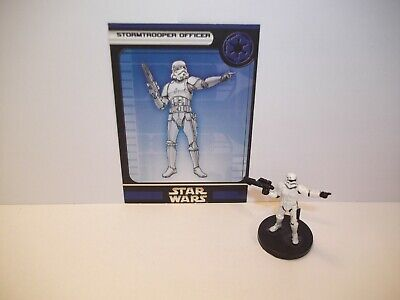Star Wars Miniatures - Stormtrooper Officer 39/60 + Card - Rebel storm  Uncommon