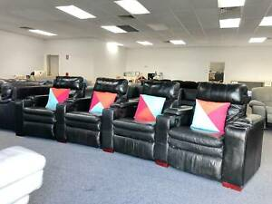 DELIVERY TODAY GENUINE LEATHER THEATRE RECLINER Sofa couch