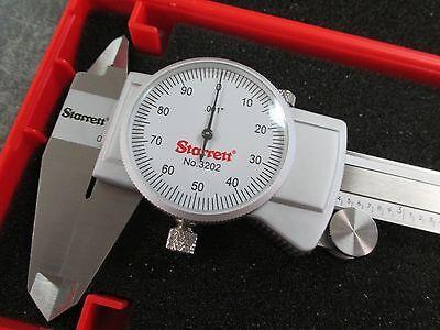 New Starrett 0-6 White Face Dial Caliper 3202-6