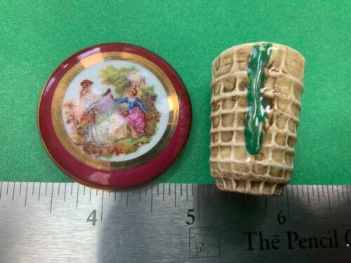 Vintage Sylvac Pottery England  Miniature vase & plate / lid