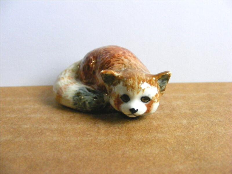 Klima Red Panda Curled Up Miniature Animal Figurine Support Wildlife Rehab