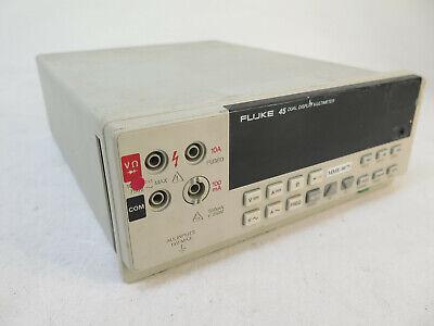 Fluke 45 Benchtop Dual Display 5.5-digit Digital 0v-1000v Multimeter Dmm