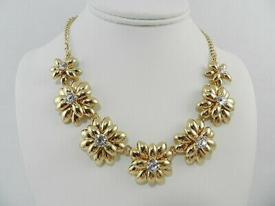 Charter Club   Gold-Tone Floral Crystal Necklace, 16