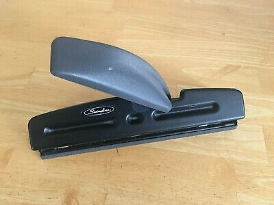 Swingline Acco Model 74030 2-3 Hole Punch Heavy Duty Business Black Adjustable