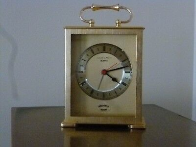 HAMILTON Gold Quartz Desk Clock - working condition