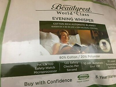 Beautyrest Warming Electric Blanket Queen Tan World Class Evening Whisper