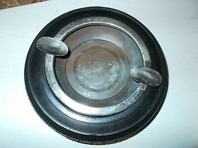 VINTAGE TIRE ASHTRAY UNMARKED ASHTRAY AND TIRE