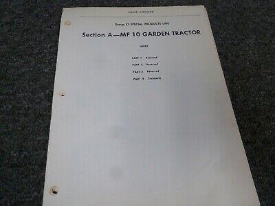 Massey Ferguson Mf 10 Garden Tractor Shop Service Repair Manual