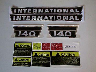Ih International Farmall Tractor 140 Decal Set Complete