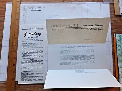 1957 Gatlinburg  Tennessee Accommodations Guide From Chamber Of Commerce
