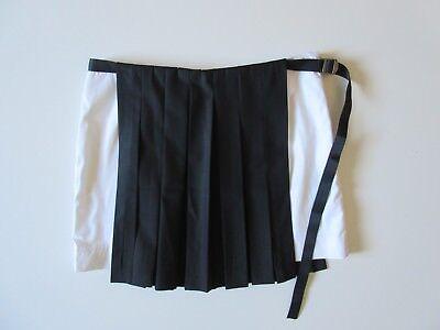 NWT DAMA Esthe in Black & White Pleated Wool Panels Schoolgirl Skirt M $425 - Schoolgirl In Skirt