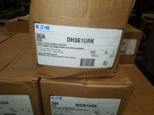 Eaton Dh361urk Heavy Duty Non-fusible Safety Switch 30a 3w 600v 3r Outdoor New