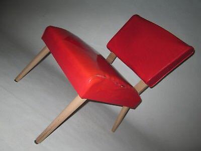 VINKING ARTLINE SLIPPER CHAIR 1956 MID CENTURY MODERN RED NEEDS FABRIC