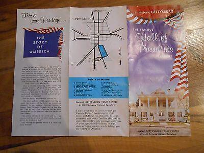 Old Vintage Brochure The Famous Hall Presidents Exhibit Gettysburg Pennsylvania
