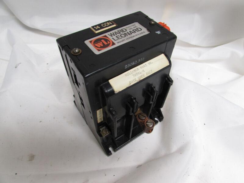 WARD LEONARD RDP2-10100 CONTACTOR 56A 600VDC 120V COIL ***XLNT***