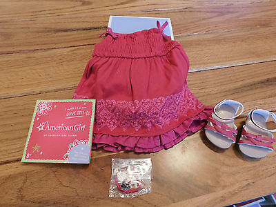 AMERICAN GIRL  MYAG  PRETTY PARTY OUTFIT + CHARM NEW IN BOX RETIRED