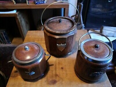 Wood tea caddy X 3