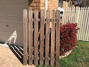 Rustic timber gate Frenchs Forest Warringah Area Preview