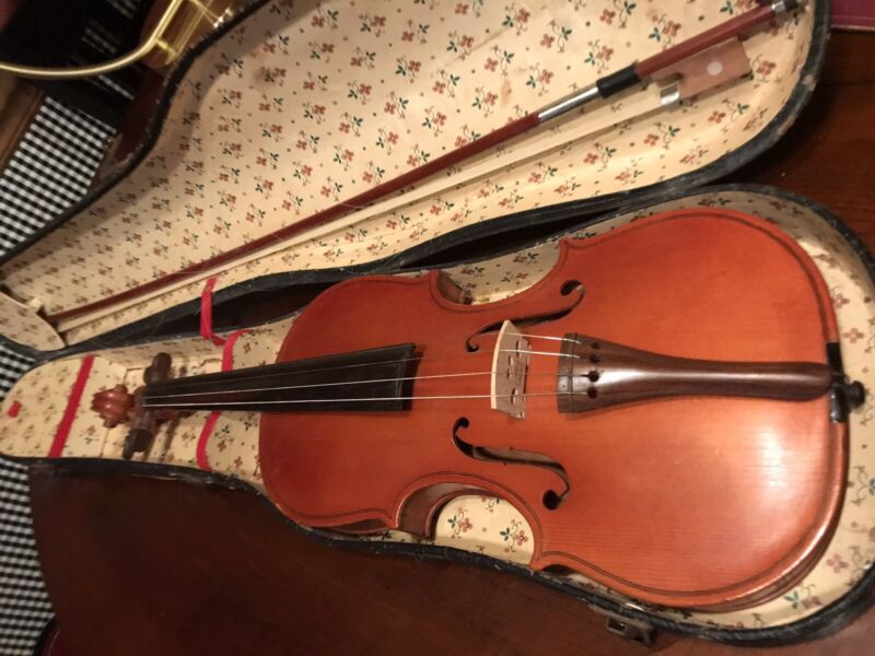 """Old Unlabeled Violin w/ Case 23"""" Very Old! Pretty"""