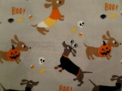Halloween Bed Sheets (Berkshire Graveyard Boo-tique Halloween DACHSHUND Wiener Dog FULL Sheet Set)