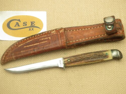 CASE Stamp Case XX Era Fixed Blade M5F Small Finn Hunting Knife Stag