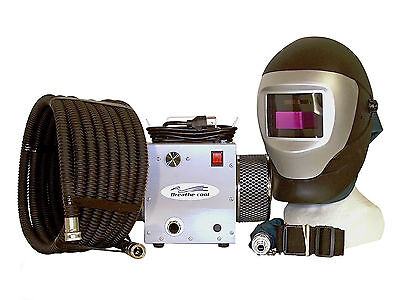 Supplied air respirator w/auto darkening welding helmet