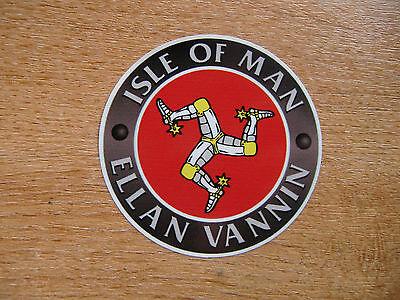 Isle of Man TT races - Ellan Vannin - 75mm decal