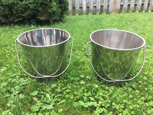 2 STAINLESS STEEL PAILS