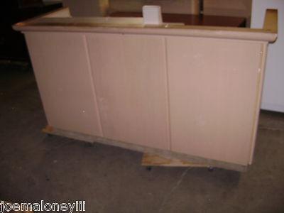 Kiosk Retail Counter Blonde 75 X 26 X 38 1057
