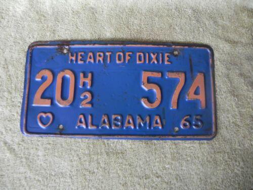 1965 alabama license plate     17