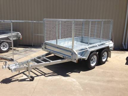 8 x 5 galvanised tandem with 900 cage - New and 12 mth lic Welshpool Canning Area Preview