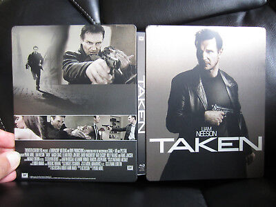 Taken Play Com  Uk  2 Disc Blu Ray Dvd Steelbook Region Bc  Read  Super Rare
