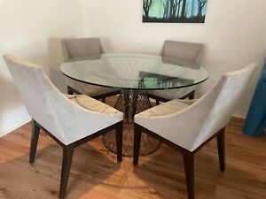 Dining Table Chairs Industrial Metal Glass Coco Republic Dining Tables Gumtree Australia Port Adelaide Area Kilburn 1262006748