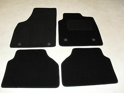 Skoda Rapid 2012-on Fully Tailored Deluxe Car Mats in Black