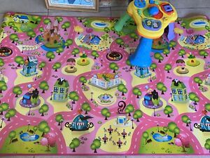 2 meter play mat and fisher price activity station
