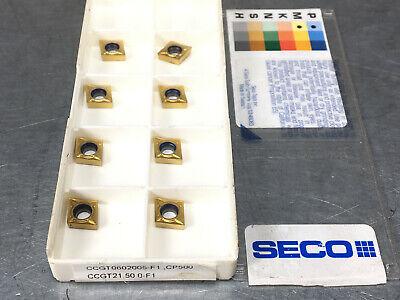 Seco Ccgt21.50.0-f1 Cp500 Carbide Insert Ccgt 0602005-f1 8 Pcs