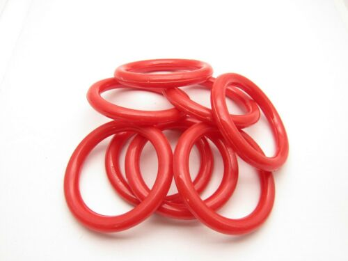 "Marbella Red Plastic 3"" Craft Rings Set of Eight"