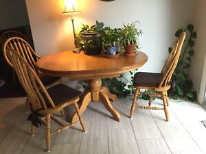 Harvest table – solid oak oval