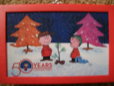 PEANUTS 4X6  SHIMMER  ILLUMINART 50 YEARS CHRISTMAS  TREE NEW FREE SHIP
