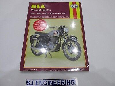 BSA Pre Unit Singles B31 B32 B33 B34  Haynes Workshop service manual NEW SJ365