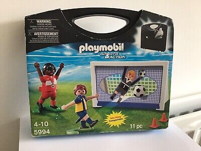 PLAYMOBIL 5994 SPORTS ACTION TAKE ALONG FOOTBALL CARRY CASE