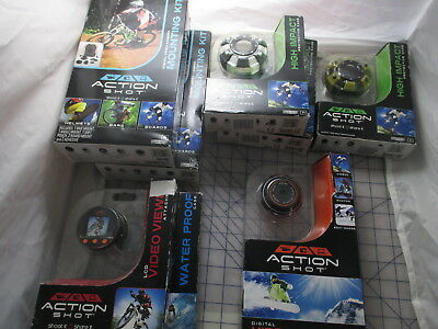 Action Shot Digital Video Camera complete Package Waterproof Shock Mount NEW FS